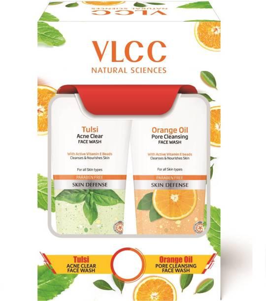 VLCC Tulsi Acne Clear + Orange Oil Pore Cleansing  (2 x 150ml) Face Wash