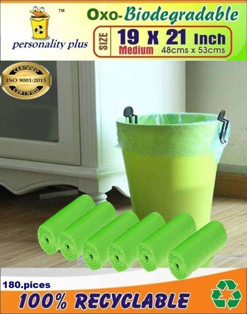 PERSONALITY PLUS Biodegradable Garbage Bags 19*21 inches ( pack of 6, 180 pieces ) Medium 18 L Garbage Bag