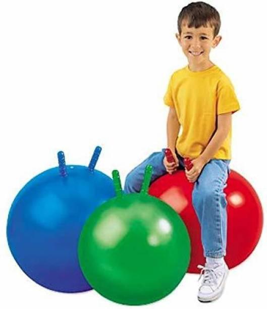 MBFT 55 CM HOP BALL, HOPPING BALL, SIT & BOUNCING BALL, KANGAROO BALL FOR 5-10 YR KIDS Gym Ball