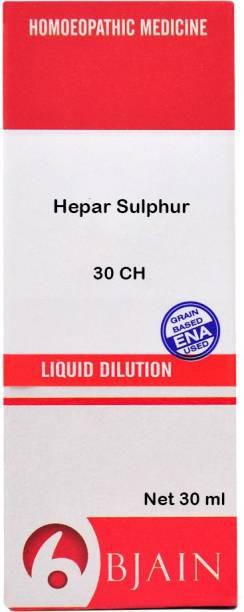 Bjain Hepar Sulphur 30 CH Dilution