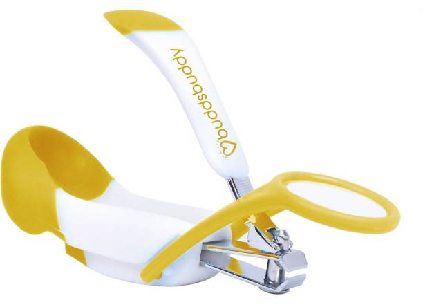 Buddsbuddy Premium Baby Nail Clipper with Magnifying Glass, Yellow, BB5023