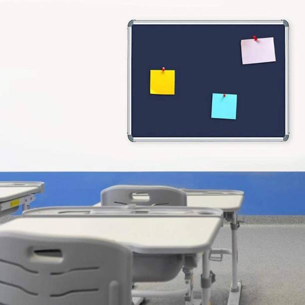 SRIRATNA 1.5 X 2 Feet Notice Pin-up Display Blue Elegant Design Notice Board for Office, School and Home Notice Board
