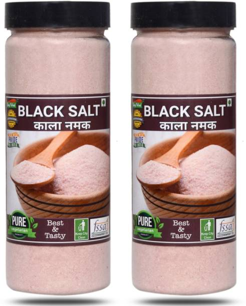 spicy wind Premium Quality (Kala Namak) Black Salt 600 gm Black Salt