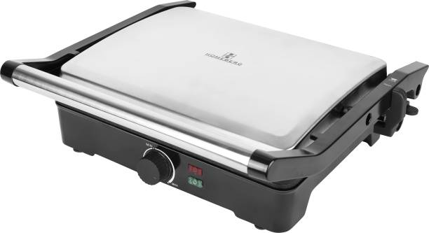 Homeberg Non-Stick Cooking Surface 4 Slice Tandoor & Grill Maker 2000W -HSG737 Open Grill