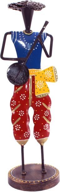 KBV Rajasthani Musicians Indian Handicraft Handmade Hand Painted Decorative Showpiece  -  35 cm
