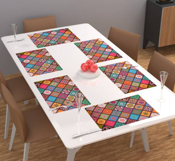 FACTCORE Rectangular Pack of 6 Table Placemat