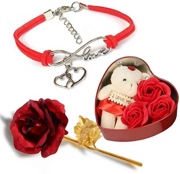 University Trendz Jewelry, Soft Toy, Artificial Flower Gift Set