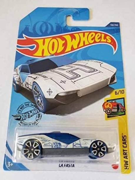 HOT WHEELS HW 2020 LA FASTA WHITE 114/250 COLLECTIBLE CAR MODEL HW ART CARS 6/10