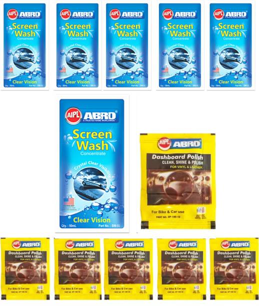 ABRO Windshield Washer Concentrate - Screen Wash Car Washing Liquid & Dashboard , Plastic Party Polish Car Washing Liquid