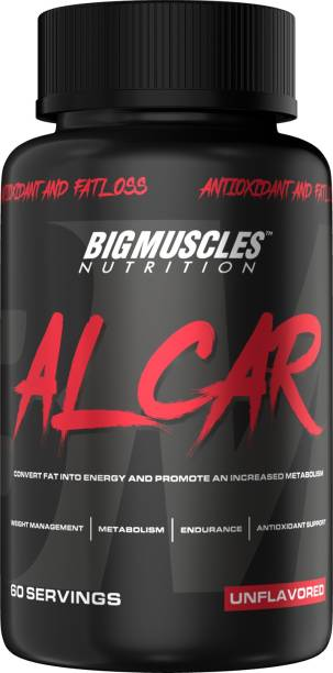 BIGMUSCLES NUTRITION ALCAR (ACETYL L-CARNITINE 1000mg Per Serving) | 30 Servings | Natural Fat Burner