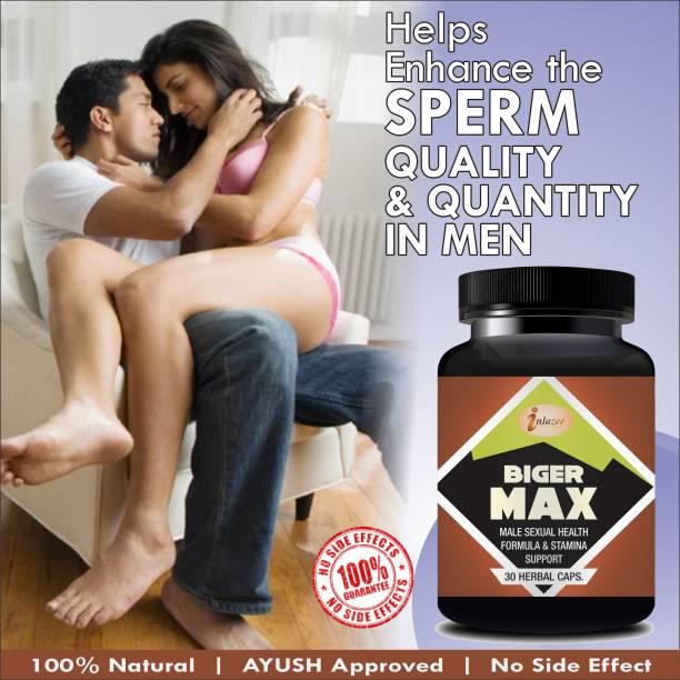 inlazer Bigger Max Herbal Capsules For Promotes Sexual Desire & Ability/ Ling Bada Karne Ki Dawa 100% Ayurvedic