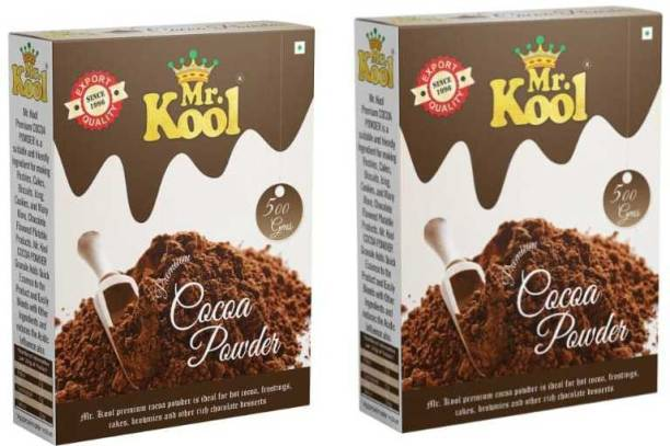 Mr.Kool 100% Natural & Organic 1 Kg Cocoa Powder (500x2) Cocoa Powder
