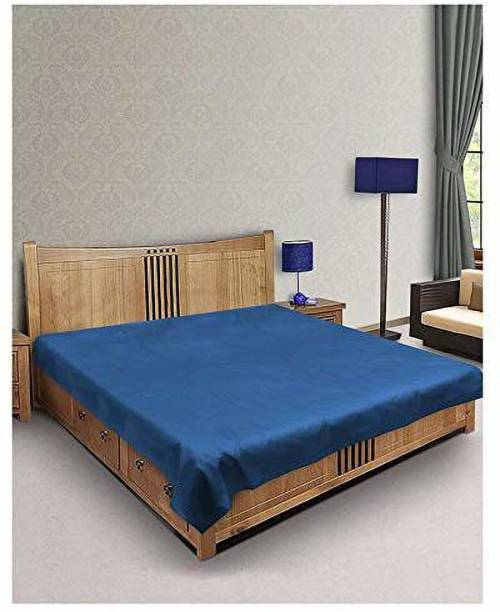 SHAVIN INDUSTRIES 200 TC Polyester Double Solid Bedsheet