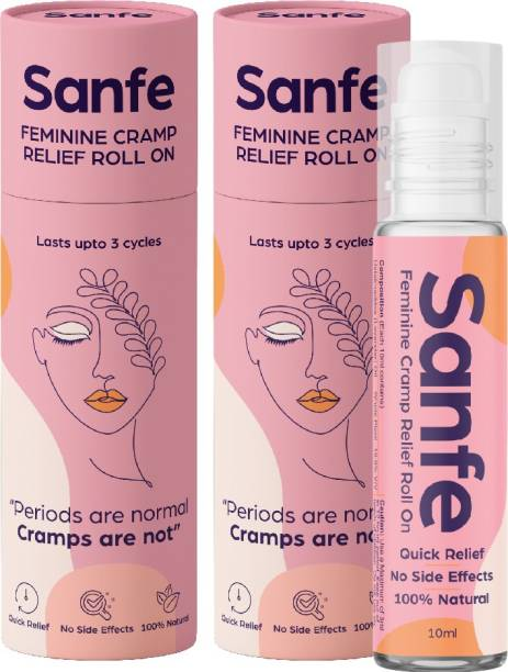 Sanfe Feminine Cramp Relief Roll On for instant relief from period pain Gel