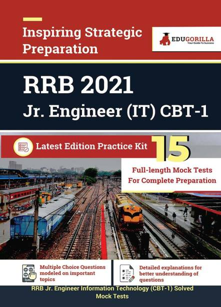 RRB Jr. Engineer Information Technology (IT) CBT-1 2021 15 Mock Tests Latest Edition Practice Kit