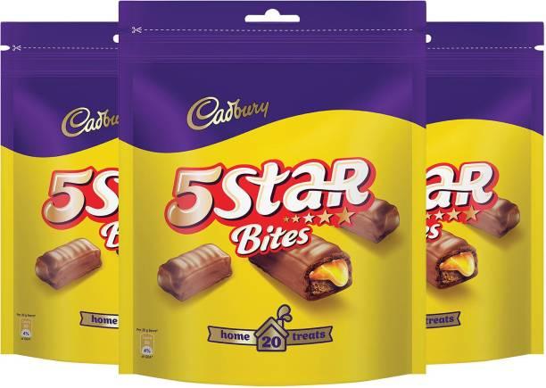 Cadbury 5 Star Chocolate Home Treats Pack, 200 gm - Pack of 3 Bars