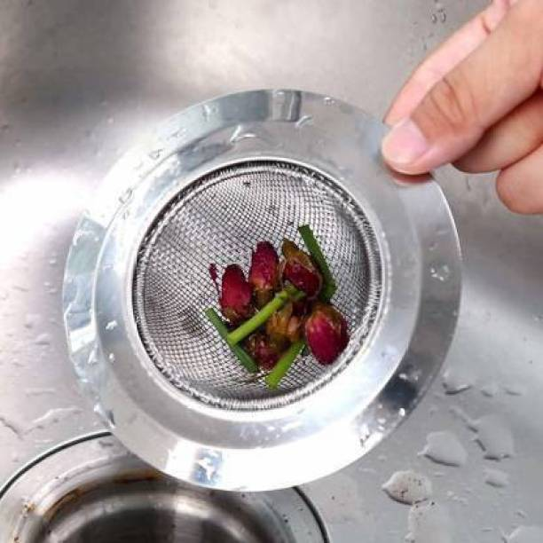 sbaprime Kitchen Sink Stainless Steel Push Down Strainer
