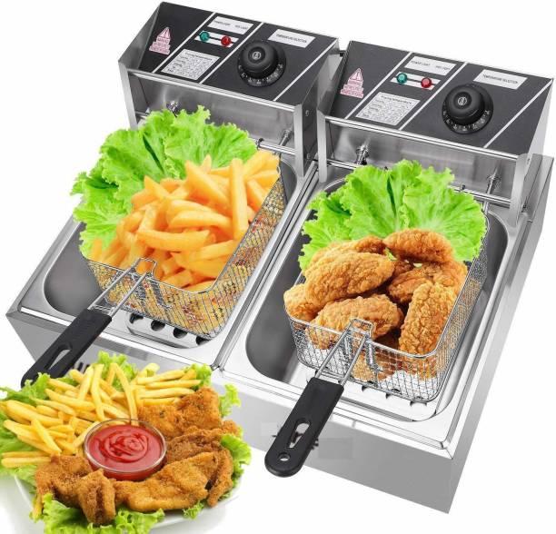 KIING deep fryer double tank 12 L Electric Deep Fryer
