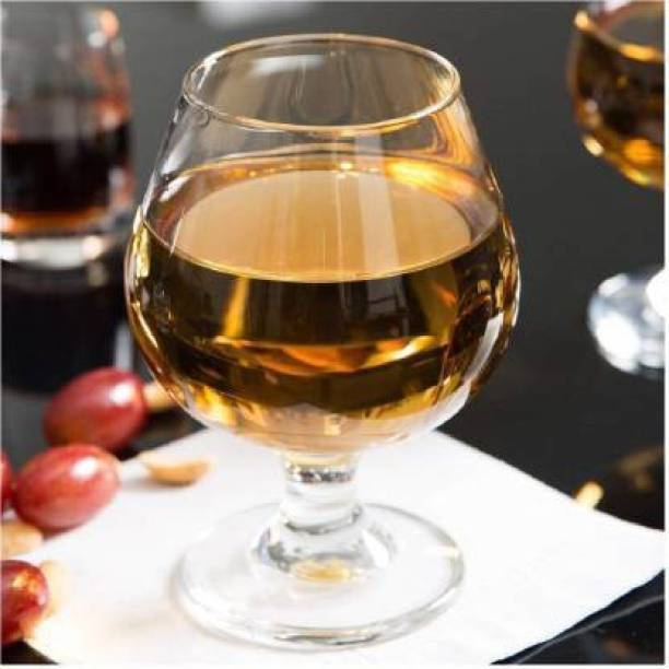 WHOLESALE BAY (Pack of 3) Brandy wine Whisky Glass, Elegant Look and Lead Free Crystal and 250 ml SET OF 3 Glass Set