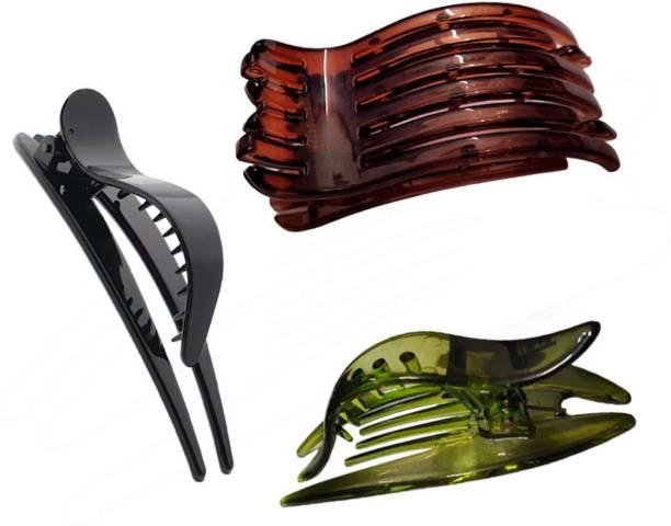 New Arihant Traders Hair Juda Clips/Claws for Women & Girls (3 pieces) Bun Clip