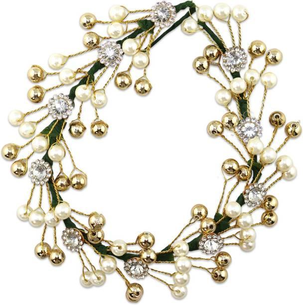 VAGHBHATT Fashion Jewellery Floral Stone Women's Hair Pins Artificial Flowers Accessories Bun