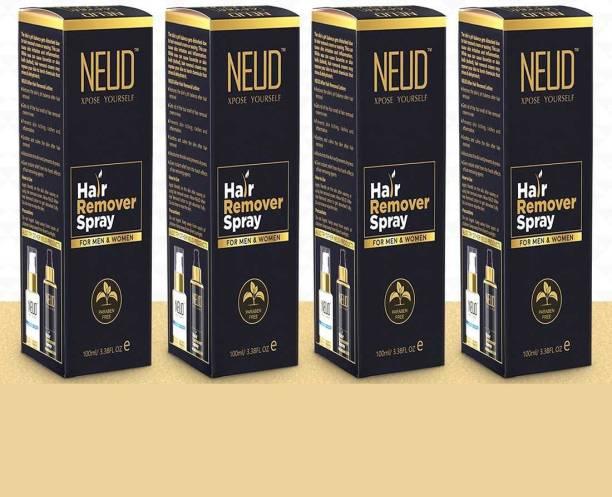 NEUD Hair Remover Spray for Men and Women – 4 Packs (100ml Each) Spray