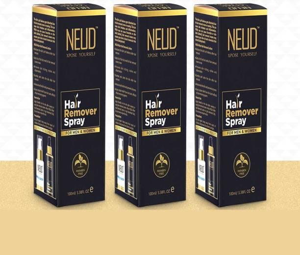 NEUD Hair Remover Spray for Men and Women – 3 Packs (100ml Each) Spray