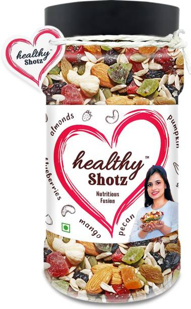 HEALTHY SHOTZ Nutritious Fusion | (250g Each) PET BOTTEL | Healthy and Nutritious Snacks Munch Any Time Crunch