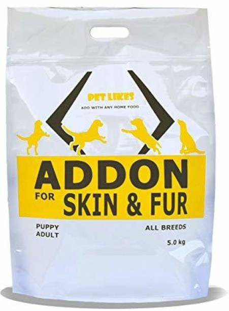 PET LIKES Skin & Fur For Dogs Chicken, Fish, Egg, Vegetable 5 kg Dry Young, Adult, Senior Dog Food