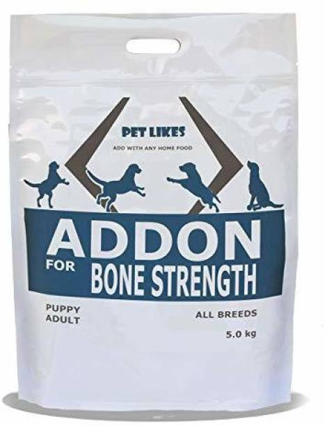 PET LIKES ADDON Bone Strength For Dogs - Hip and Joint Support Chicken, Fish, Egg, Vegetable 5 kg Dry Young, Adult, Senior Dog Food