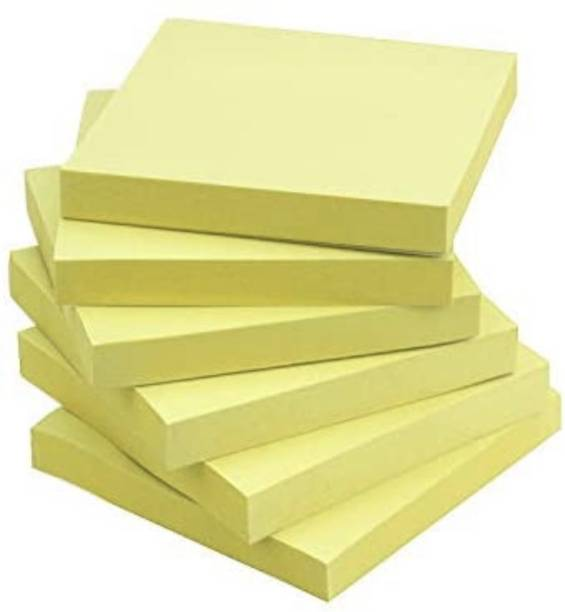 officekart Vibrant Yellow Colour (Pack of 6, 600 Sticky Notes) 100 Sheets VIBRANT YELLOW REGULAR STICKY NOTES, 1 Colors