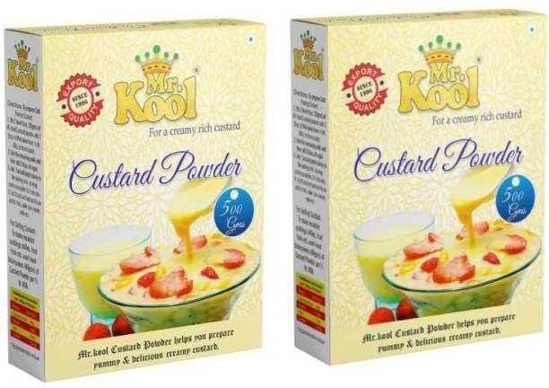 Mr.Kool Golden Vanilla Flavour Instant Custard Powder Pure Veg 500gx2(1kg) 1 kg