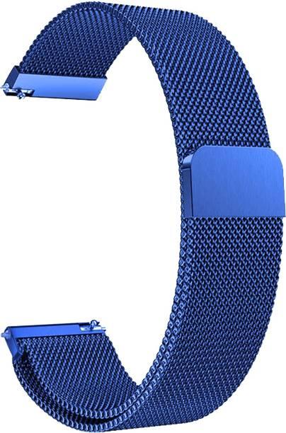 ACM WSM4M20BL1904F Watch Strap Magnetic Loop 20mm for Motorola Moto 360 (3rd Gen) ( Smartwatch Luxury Metal Chain Band Blue) Smart Watch Strap