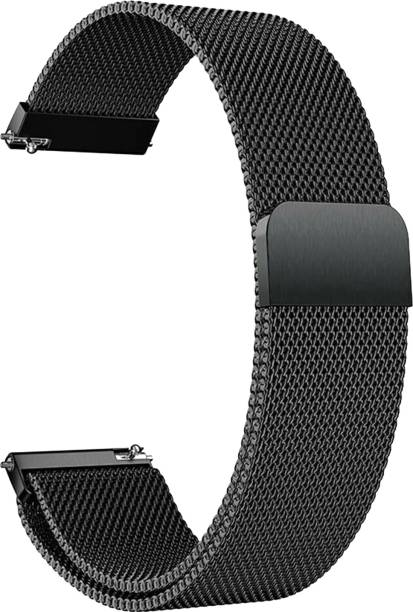 ACM Watch Strap Magnetic Loop 22mm for Below Compitable Watch Models ( Smartwatch Luxury Metal Chain Band Black) Smart Watch Strap