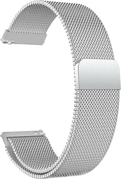ACM WSM4M20SL1904F Watch Strap Magnetic Loop 20mm for Motorola Moto 360 (3rd Gen) ( Smartwatch Luxury Metal Chain Band Silver) Smart Watch Strap