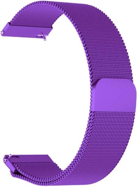 ACM WSM4M20PU1904F Watch Strap Magnetic Loop 20mm for Motorola Moto 360 (3rd Gen) ( Smartwatch Luxury Metal Chain Band Purple) Smart Watch Strap