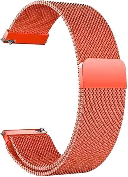 ACM WSM4M20OR1904F Watch Strap Magnetic Loop 20mm for Motorola Moto 360 (3rd Gen) ( Smartwatch Luxury Metal Chain Band Orange) Smart Watch Strap