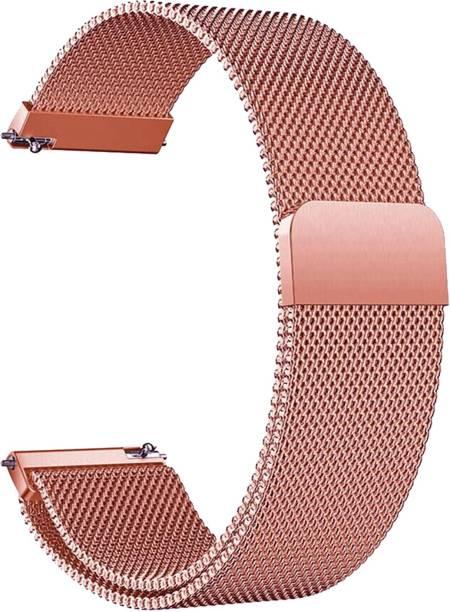 ACM WSM4M20RSG1904F Watch Strap Magnetic Loop 20mm for Motorola Moto 360 (3rd Gen) ( Smartwatch Luxury Metal Chain Band Rose Gold Pink) Smart Watch Strap