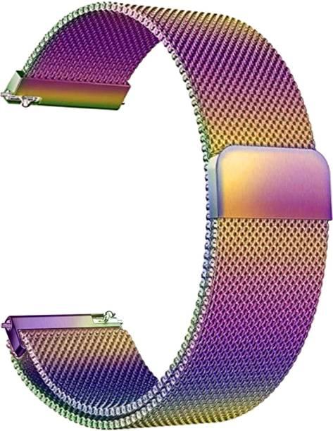 ACM WSM4M20CFL1904F Watch Strap Magnetic Loop 20mm for Motorola Moto 360 (3rd Gen) ( Smartwatch Luxury Metal Chain Band Colorful) Smart Watch Strap