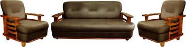 Mofi sofas Leatherette 3 + 1 + 1 Brown Sofa Set