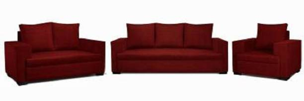 Mofisofas Fabric 3 + 2 + 1 Red Sofa Set