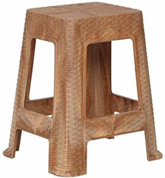 PRIMA Prima Durable Moulded Plastic Stool Non-Slip Standard Size for Home & Garden with high Load Capacity Sandalwood Color Stool