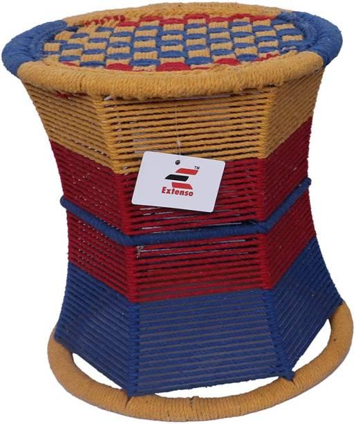 Extenso Eco-Friendly Handicraft Stool Mudda, Multi-Colored Stool