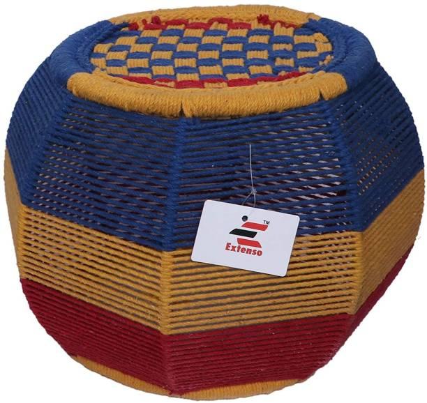 Extenso Eco-Friendly Handicraft Stool Mudda, Multicolored Stool