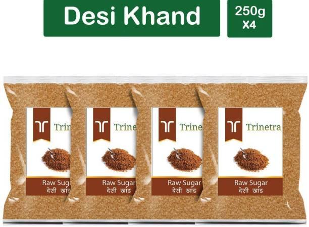 Trinetra Best Quality Desi Khand (Raw Sugar)-250gm (Pack Of 4) Sugar