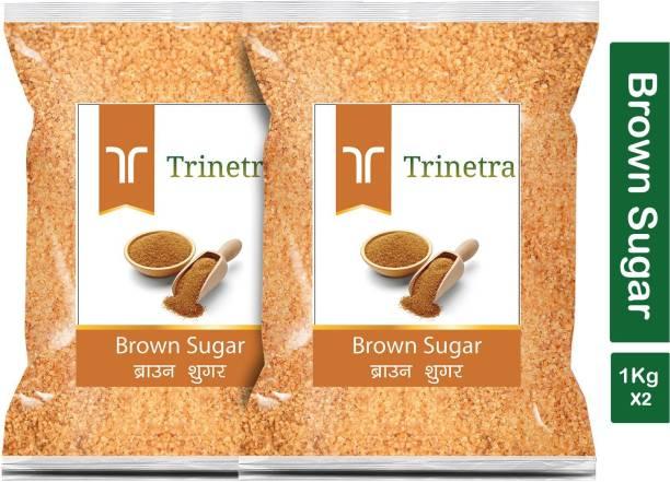 Trinetra Best Quality Brown Sugar-1Kg (Pack Of 2) Sugar
