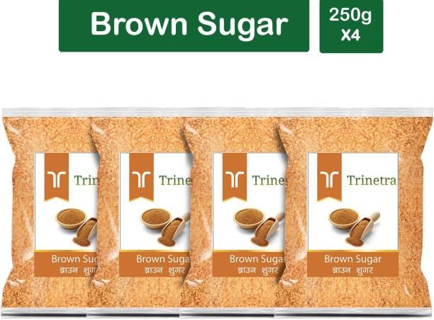 Trinetra Best Quality Brown Sugar-250gm (Pack Of 4) Sugar