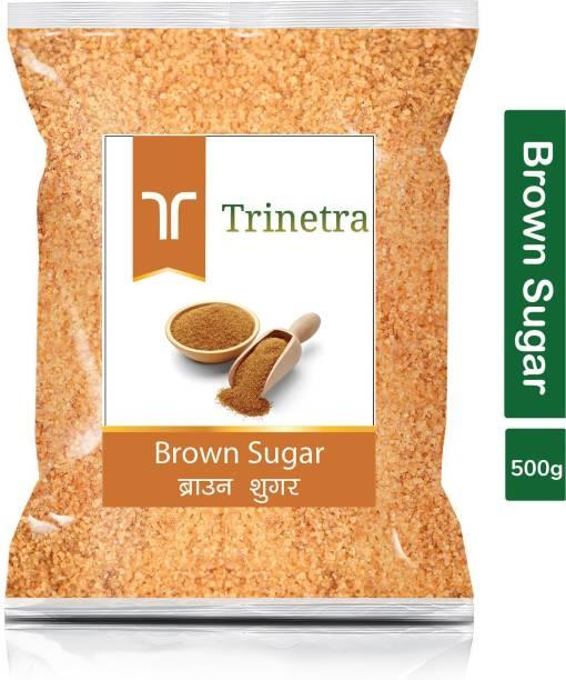 Trinetra Best Quality Brown Sugar-500gm (Pack Of 1) Sugar