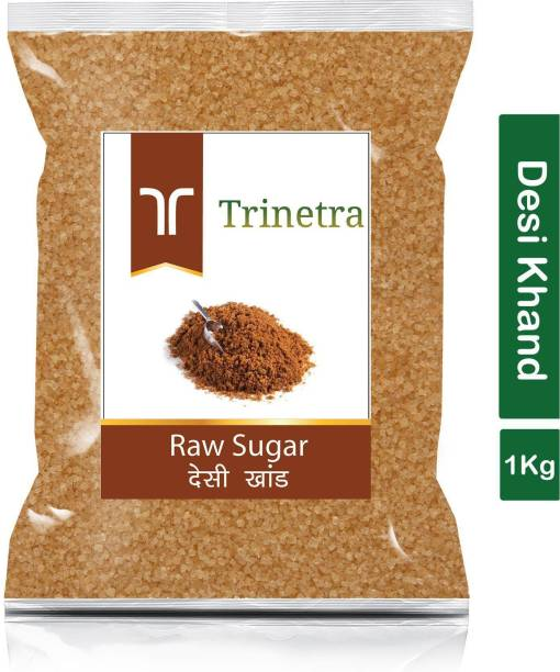 Trinetra Best Quality Desi Khand (Raw Sugar)-1Kg (Pack Of 1) Sugar