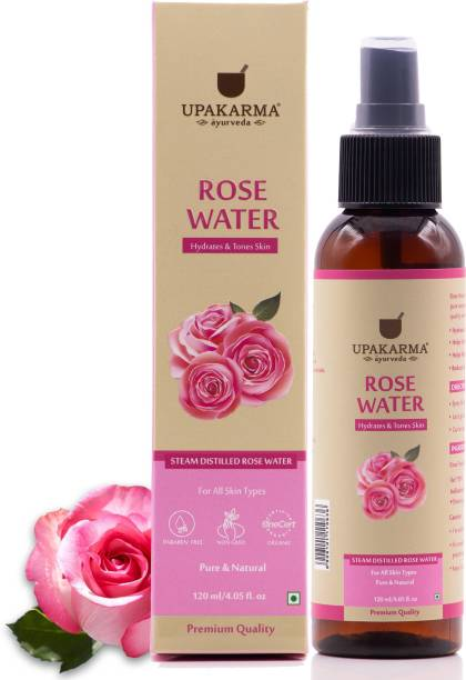 UPAKARMA Ayurveda Premium, Pure and Natural Rose Water - 120ml Men & Women